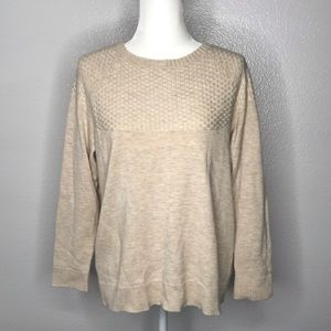 Talbots Sweater Size 1XP Petite Lambswool Oatmeal